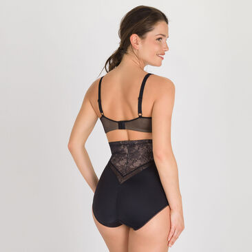 High-Waisted Girdle in Black – Expert In Silhouette Feminine-PLAYTEX