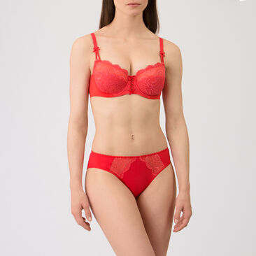 Balcony Bra in Red – Flower Elegance-PLAYTEX