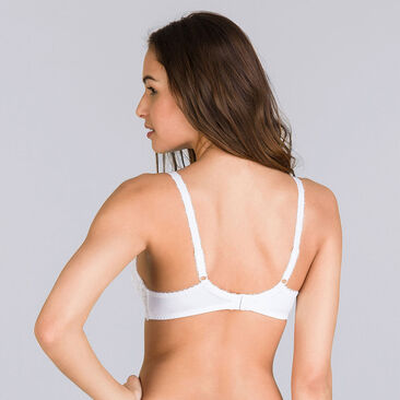 Full Cup Bra in White – Flower Elegance-PLAYTEX