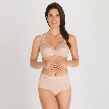 2 Midi briefs in Skin tone – Stretch Cotton-PLAYTEX