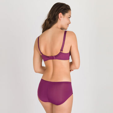 Midi Brief in Plum Purple - Classic Lace Support-PLAYTEX