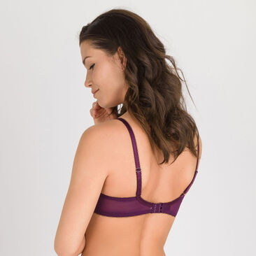 Balcony Bra in Purple Print - Daily Elegance-PLAYTEX
