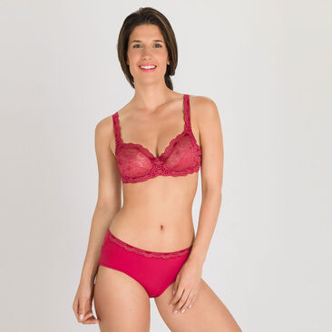 Soutien-gorge balconnet rouge pailletté - Invisible Elegance-PLAYTEX