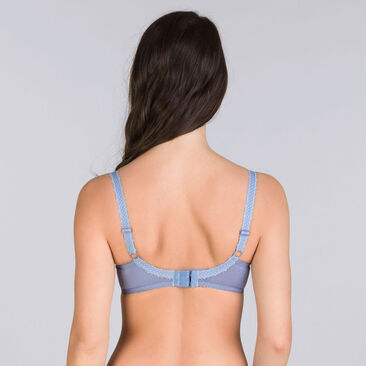 Denim blue full cup bra - Cross your Heart Lace-PLAYTEX
