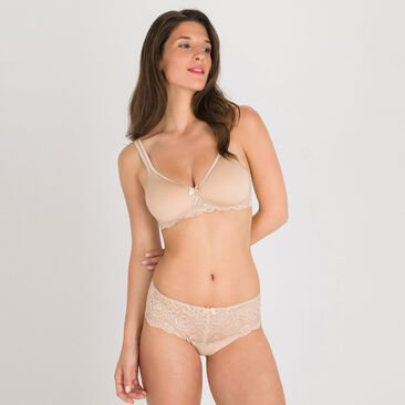 Non-wired spacer Bra in Nude – Flower Elegance-PLAYTEX