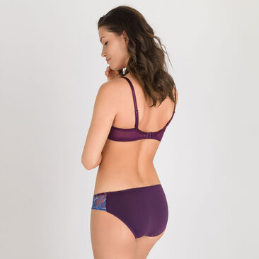 Mini brief in Purple Print - Daily Elegance-PLAYTEX