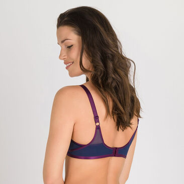 Non-wired Bra in Blue Purple - Ideal Beauty-PLAYTEX