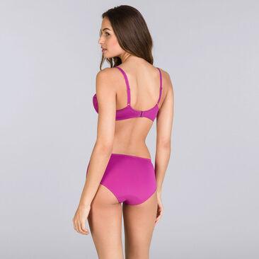 Purple fuchsia Midi briefs - Flower Elegance-PLAYTEX