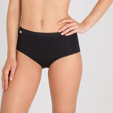 2 Culottes Midi noires  – Coton Stretch-PLAYTEX