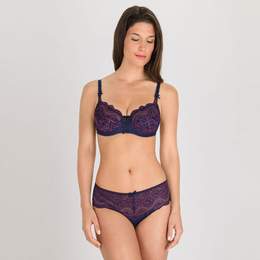 Midi brief in Dark Blue Purple - Flower Elegance-PLAYTEX