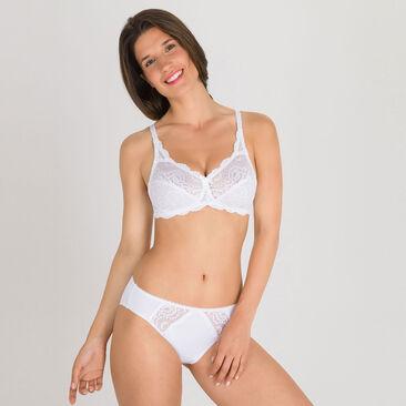 Soutien-gorge sans armatures blanc – Flower Elegance-PLAYTEX