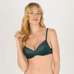 Dark green non-wired T-shirt bra - Modern Chic-WONDERBRA
