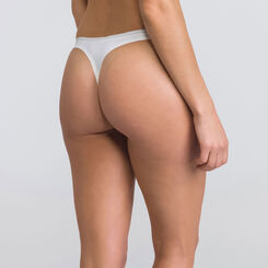 Ivory basic Thong - WONDERBRA - New Basic Bottoms
