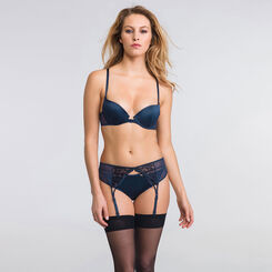 Dark blue suspender belt - Luxe Collection-WONDERBRA