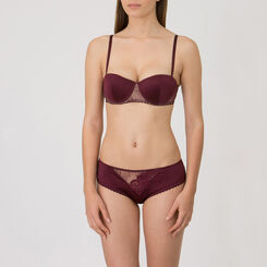 Soutien-gorge Push-up Balconnet prune – Collection Luxe-WONDERBRA