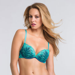 Soutien-gorge push-up Full Effect bleu - Glamour Raffiné-WONDERBRA