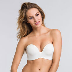 Soutien-gorge push-up bandeau ivoire  - Ultimate Silhouette -WONDERBRA