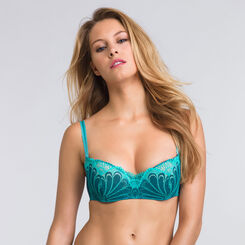 Blue push-up balconette bra - Refined Glamour-WONDERBRA