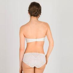 Soutien-gorge Bandeau Push-up blanc ivoire - Glamour Raffiné-WONDERBRA