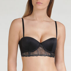 Soutien-gorge Bustier Push-up balconnet Noir Irisé - WONDERBRA - Collection Exclusive
