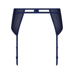 Suspender Belt in navy blue and gold - Refined Glamour-WONDERBRA