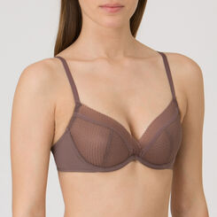 Soutien-gorge Natural Push-up marron taupe - Minimal Chic-WONDERBRA