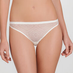 Ivory white Lace Thong - Ultimate Silhouette Lace-WONDERBRA