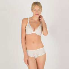 Soutien-gorge Push-up Triangle blanc  – Glamour Raffiné-WONDERBRA