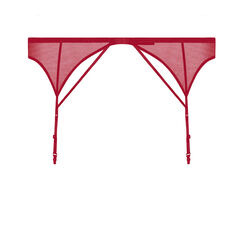 Dark red suspender belt - Luxe Collection-WONDERBRA