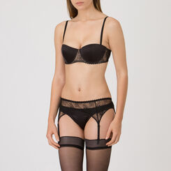 Black Suspender Belt – Luxe Collection-WONDERBRA