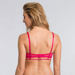 Soutien-gorge push-up balconnet rose rouge - Collection Luxe-WONDERBRA
