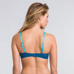 Soutien-gorge push-up triangle bleu - Glamour Raffiné-WONDERBRA