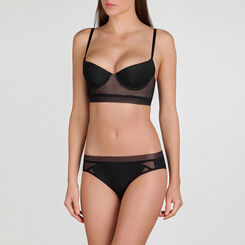Black Bustier Push-up Bra – Minimal Chic-WONDERBRA