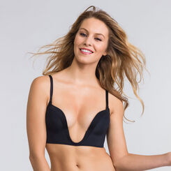 Soutien-gorge Push-up plongeant noir – Ultimate Silhouette-WONDERBRA