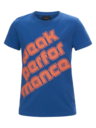 Kids Sportswear Printed T-shirt True Blue | Peak Performance