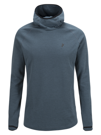 Men's Power Hooded Jersey Blue Steel | Peak Performance