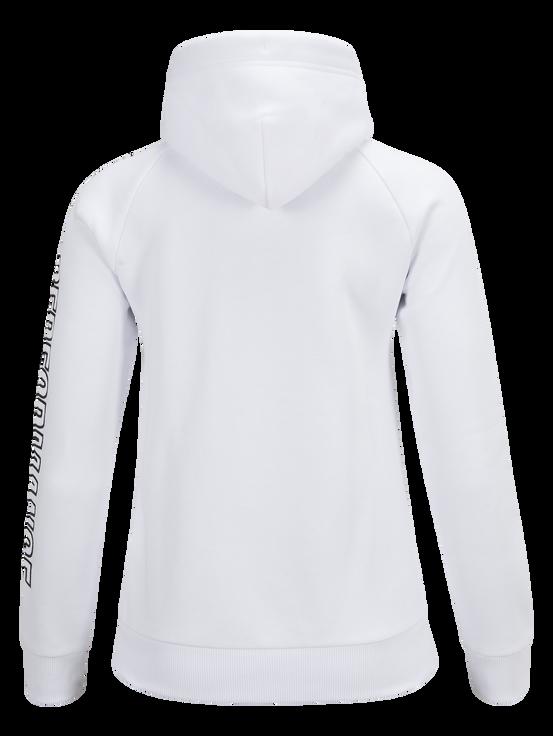 Women's Zipped Hooded Sweater White | Peak Performance