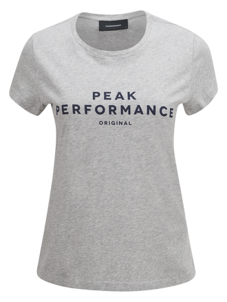 Logo t-shirt för damer Med Grey Mel | Peak Performance