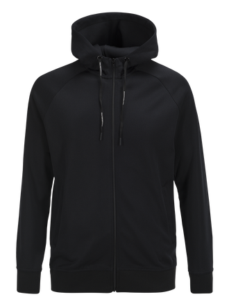 Sweat à capuche zippé homme Tech Club Black | Peak Performance