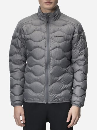 Men's Helium Melange Down Jacket Grey melange | Peak Performance