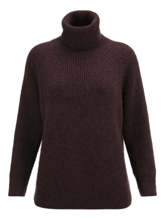 Women's Marsh Roll neck Sweater Mahogany | Peak Performance