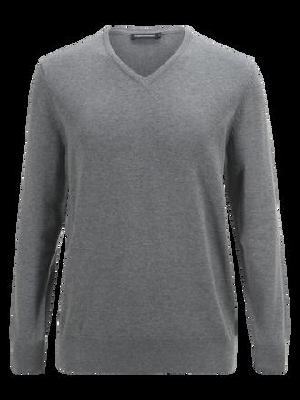 Men's Brady V-neck Grey melange | Peak Performance