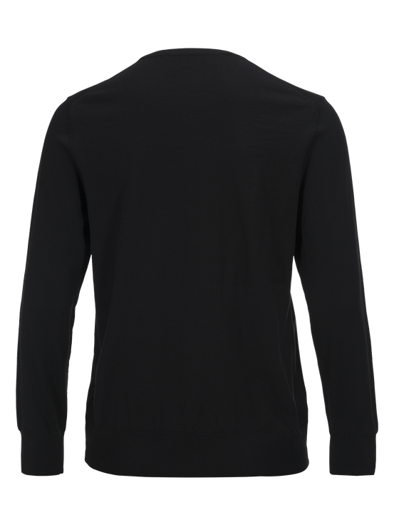 Merino herrtröja med rund halsringning Black | Peak Performance