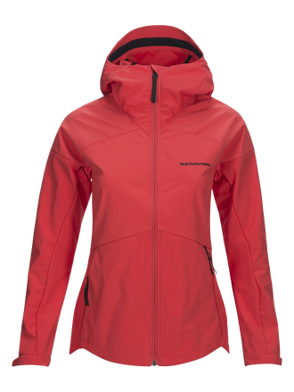 Women's Adventure Hooded Jacket Pink Flow | Peak Performance