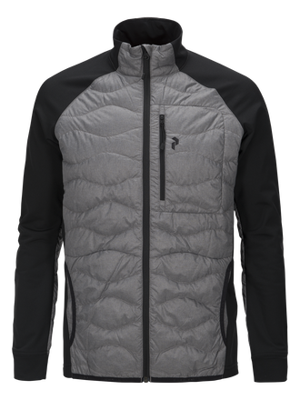Men's Helium Melange Hybrid Jacket Grey melange | Peak Performance