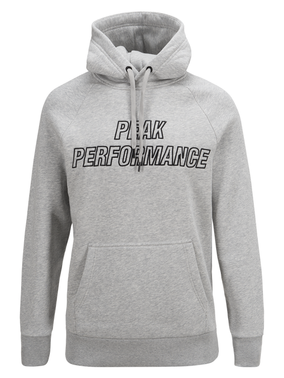 Sweat à capuche homme Med Grey Mel | Peak Performance