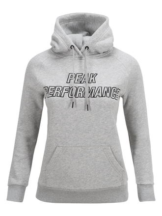 Damen Mit Kapuze Sweatshirt Med Grey Mel | Peak Performance