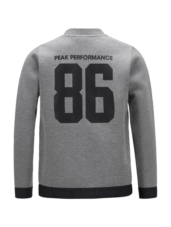 Veste zippée à Enfants Tech Grey melange | Peak Performance