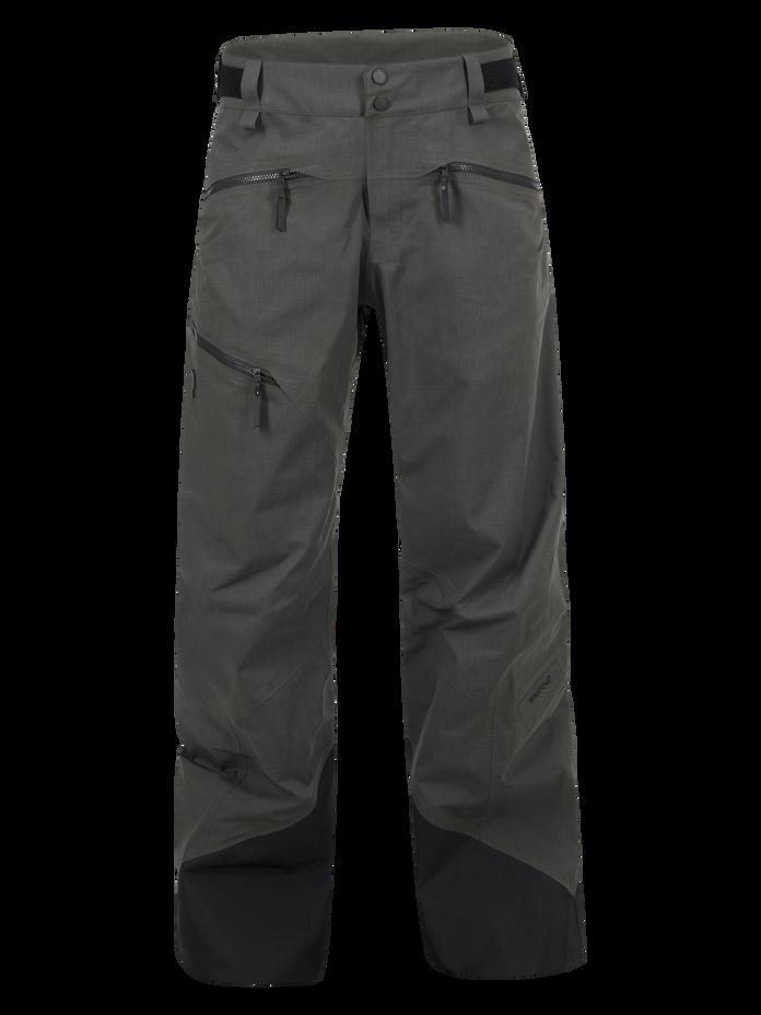 Men's Melange Teton Shell Ski Pants Black Olive | Peak Performance