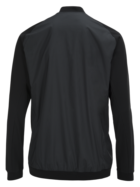 Men's Axior Wind Mid Golf Jacket Black | Peak Performance